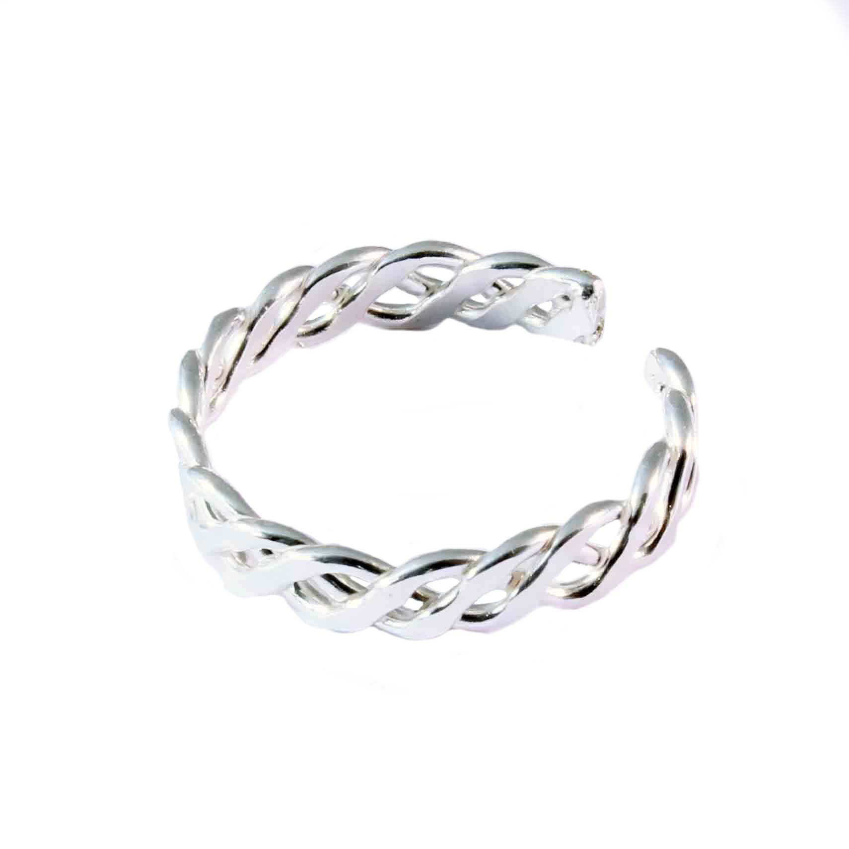 charm school uk gt sterling silver toe rings gt braided design