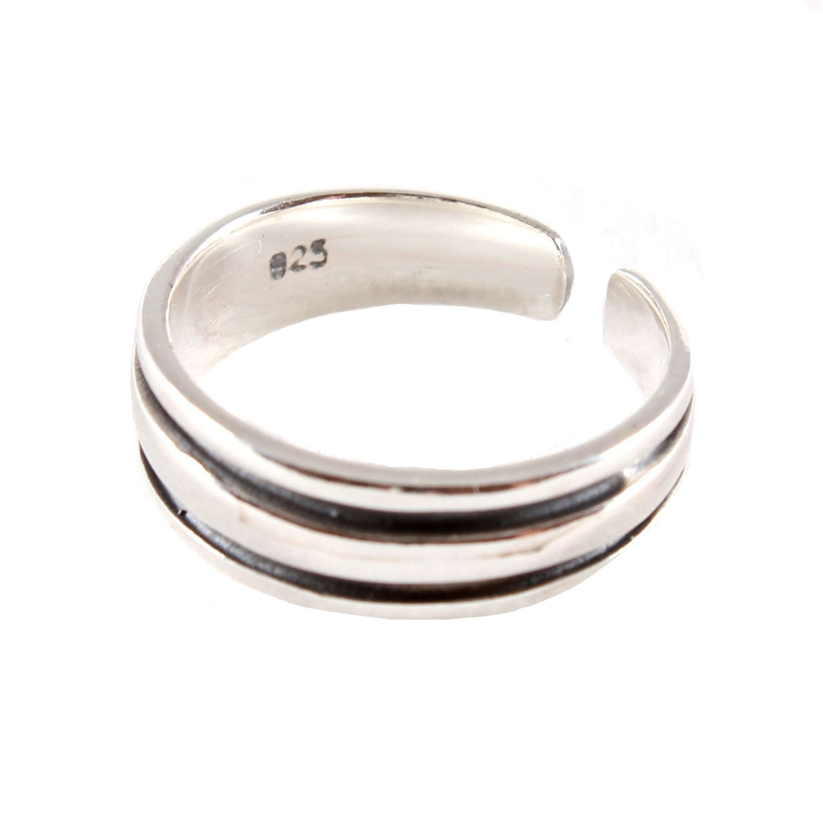 charm school uk gt sterling silver toe rings gt striped design