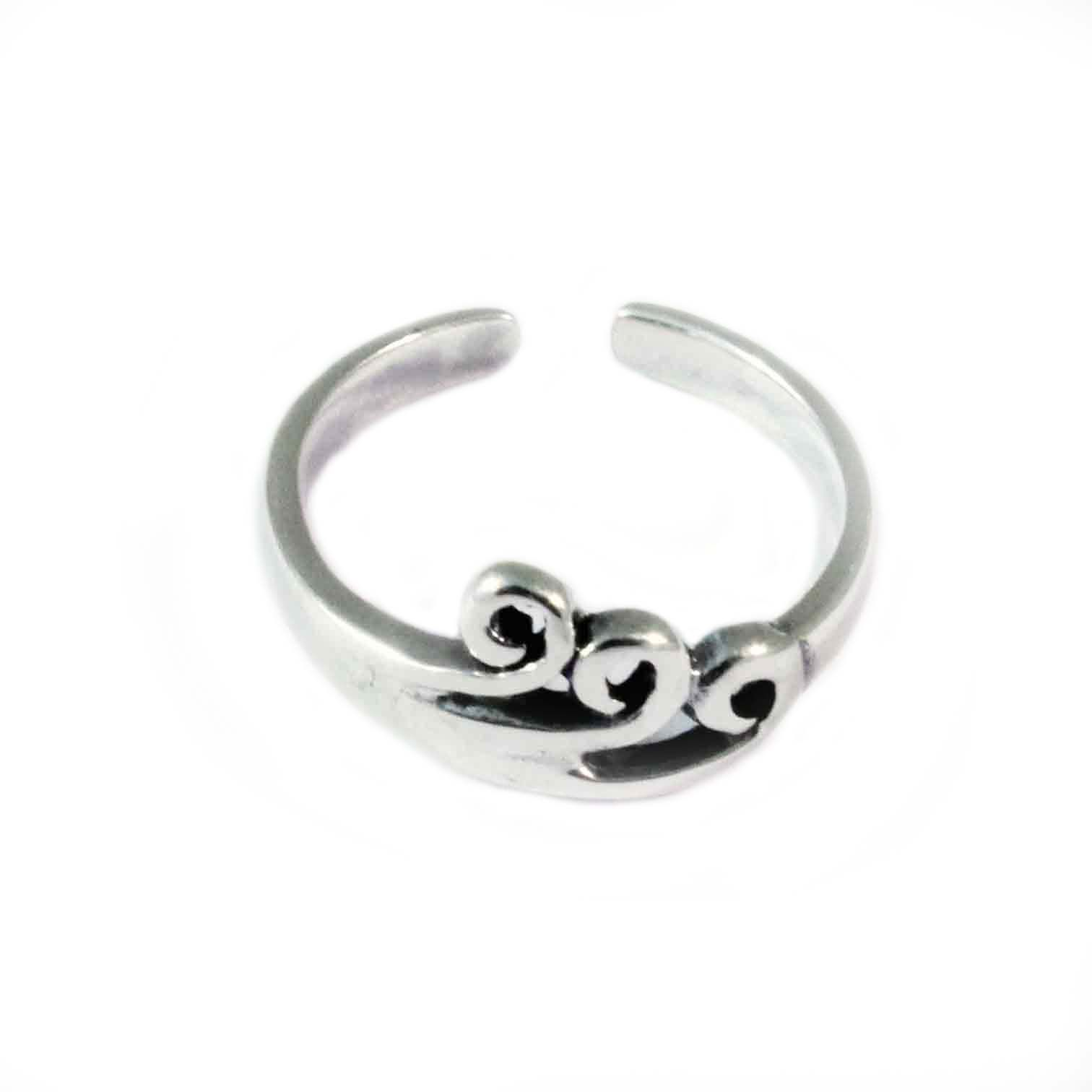 charm school uk gt sterling silver toe rings gt swirls