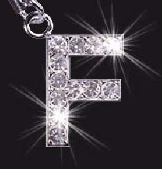Charm School UK > Swarovski Mobile Phone Charm - Letter F