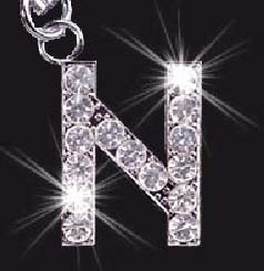 Charm School UK > Swarovski Mobile Phone Charm - Letter N