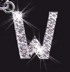 Charm School UK > Swarovski Mobile Phone Charm - Letter W