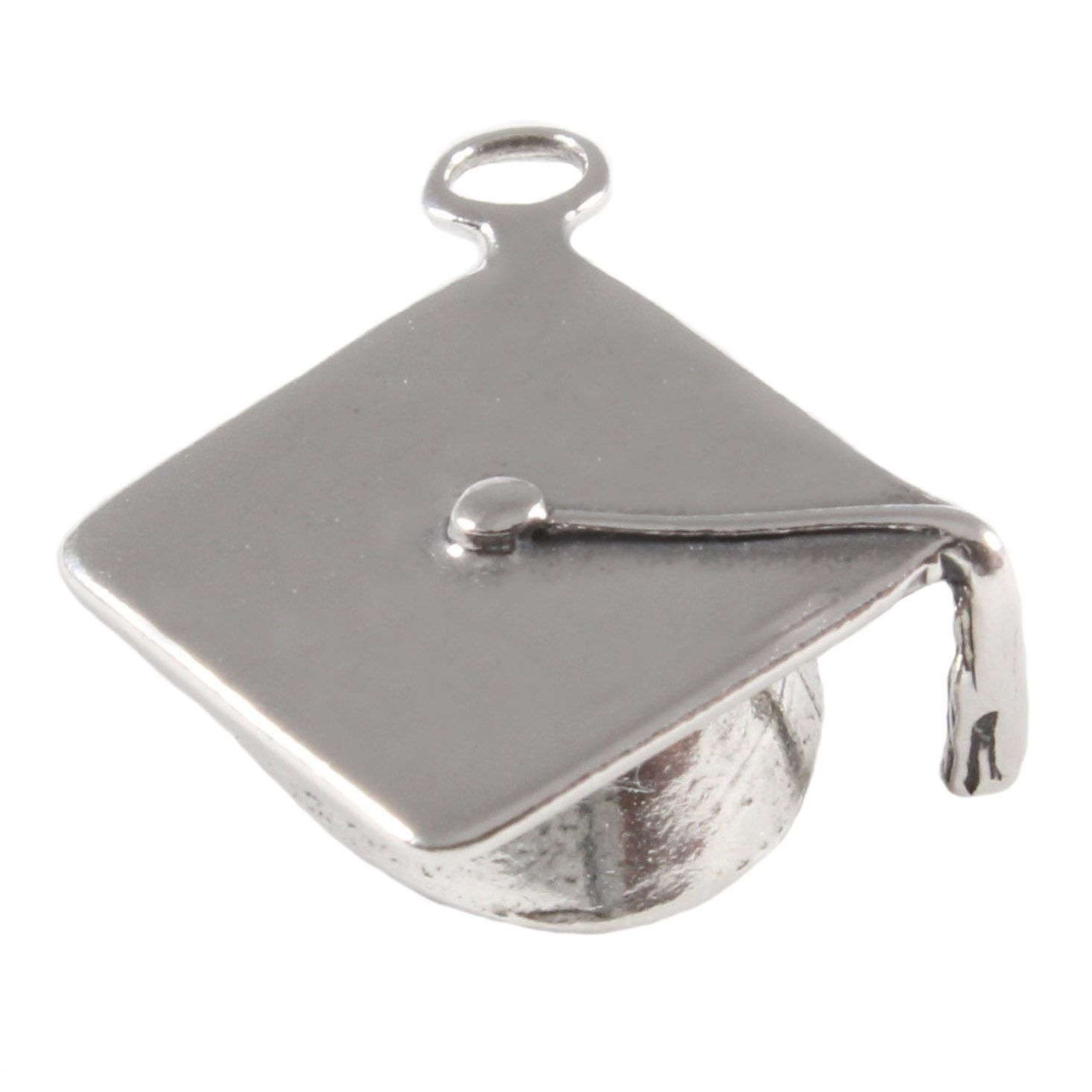Graduation Cap Sterling Silver Charms