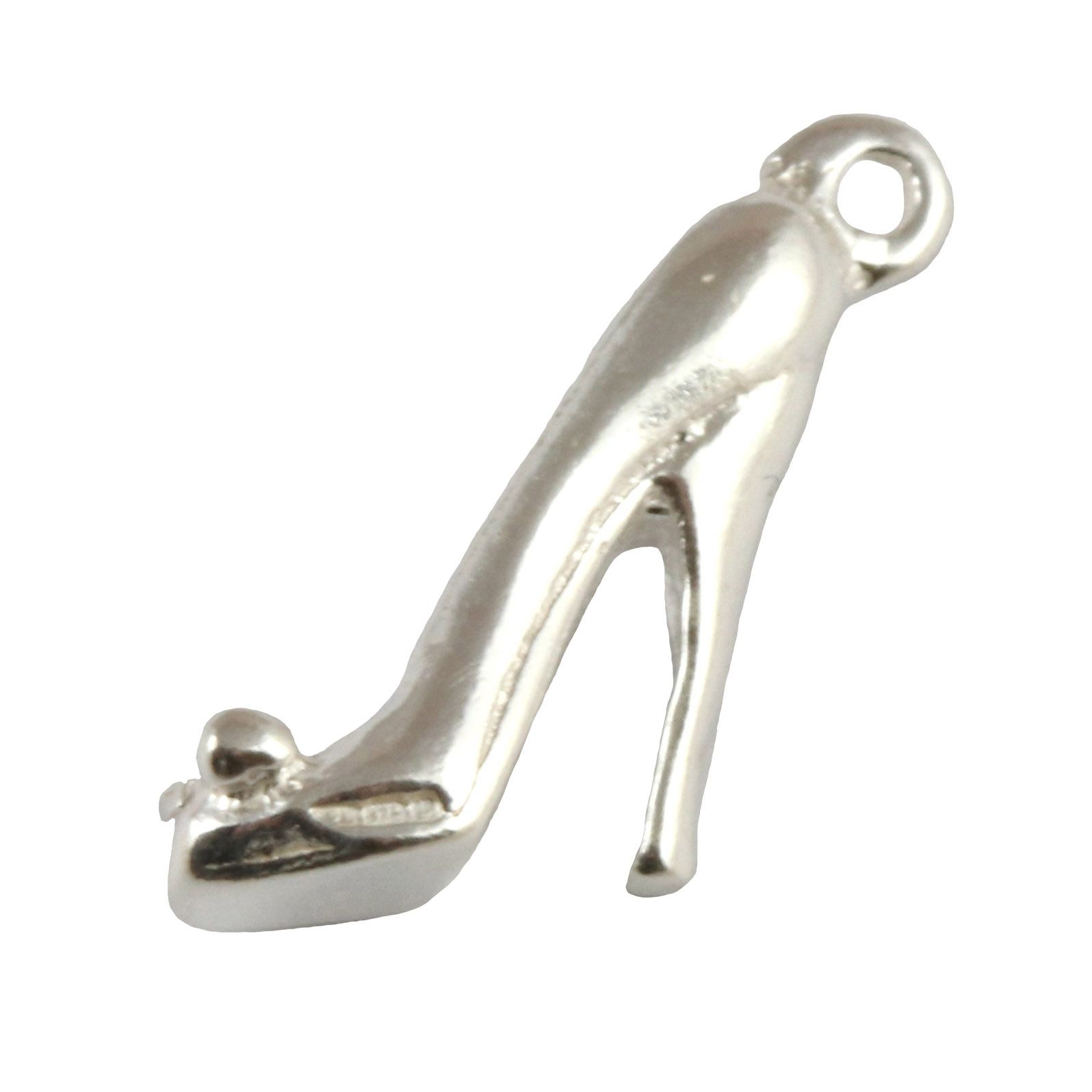 Stiletto High Heel Sterling Silver Charm