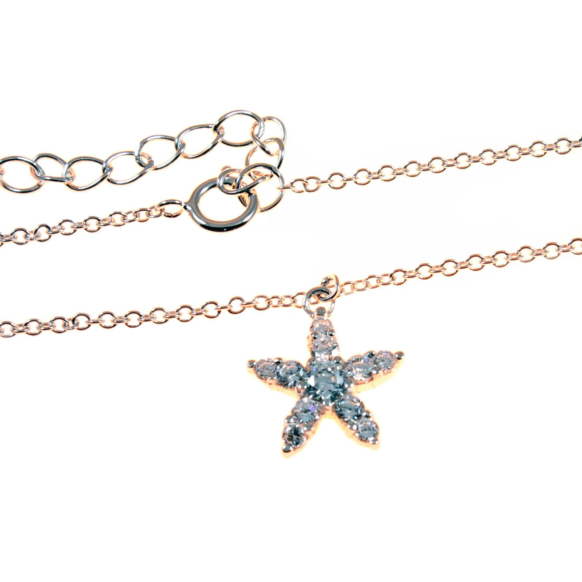 with inch anklet plated rose gold asp ladies sterling star charm p beaded silver