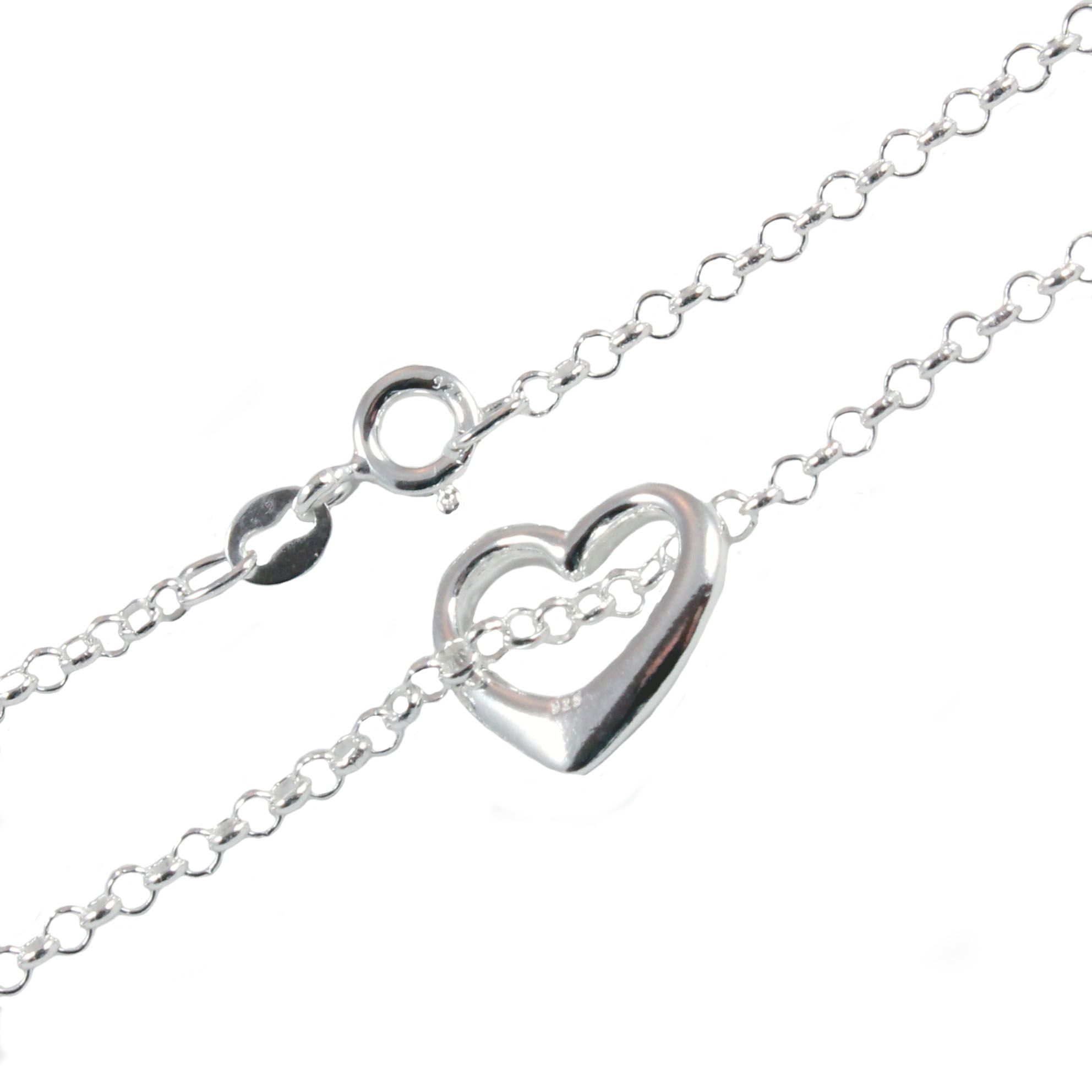 classic bracelet by crafted anklets zirconia and expert link heart in designed products shaped details brilliant is chain clr this ankle ca anklet a with silver cubic adorned sterling clear inlays romantic hand polished
