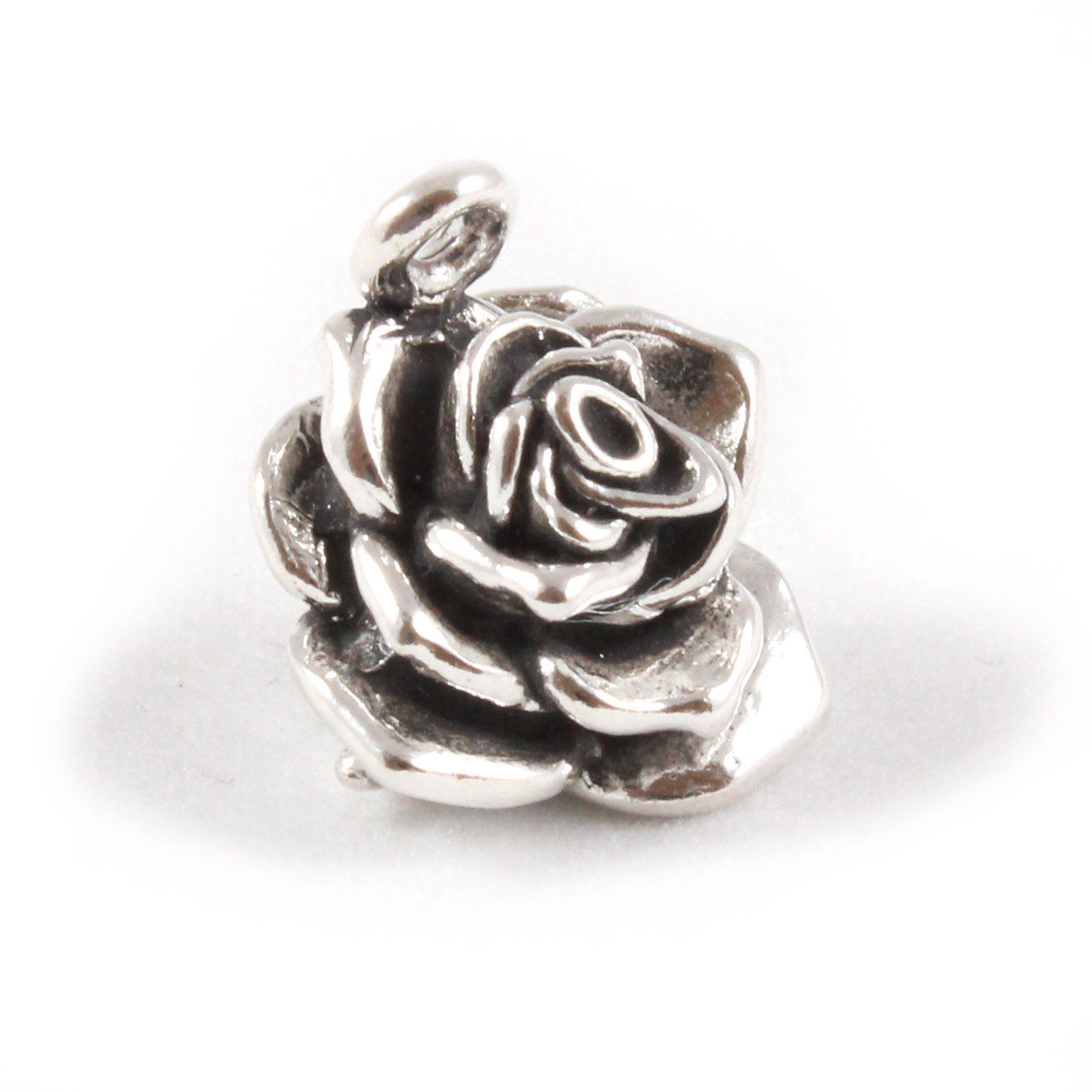 Charm School Uk Gt Sterling Silver Charms Gt Plantlife Gt Rose Flower