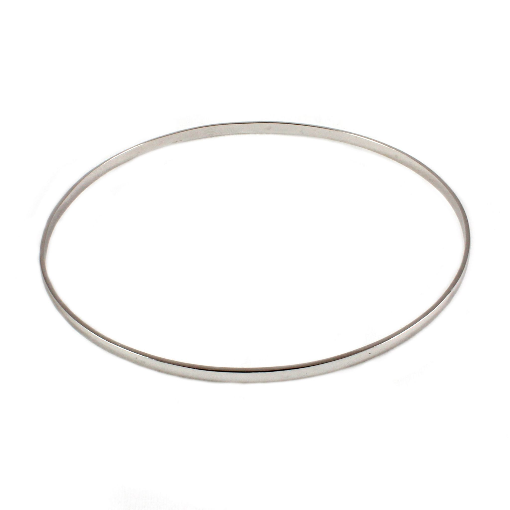 silver sterling bangles width jewellery plain slave bangle