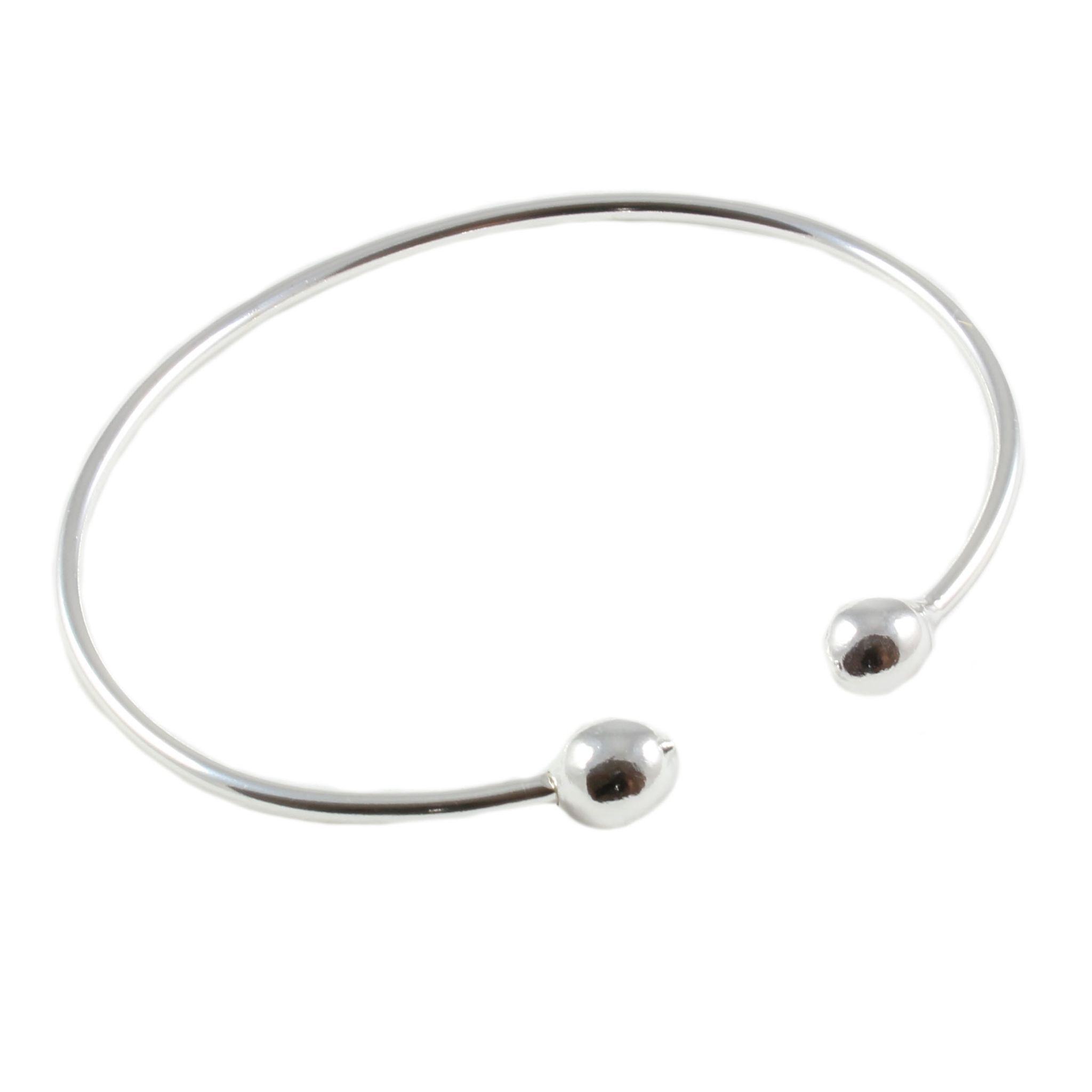 product semiprecious gallery multi slane lyst charm bangles silver stone jewelry bangle pearl bracelet sterling