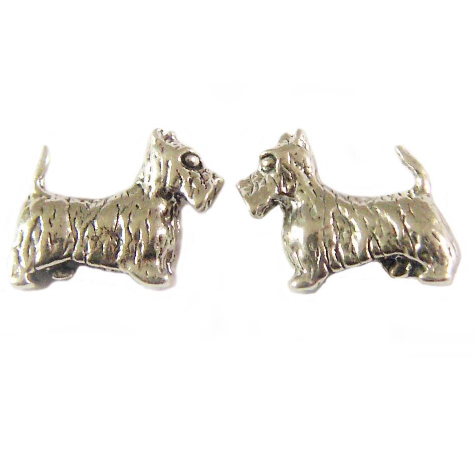 474a6c112 Charm School UK > Sterling Silver Stud Earrings > Scotty / Westie Dogs