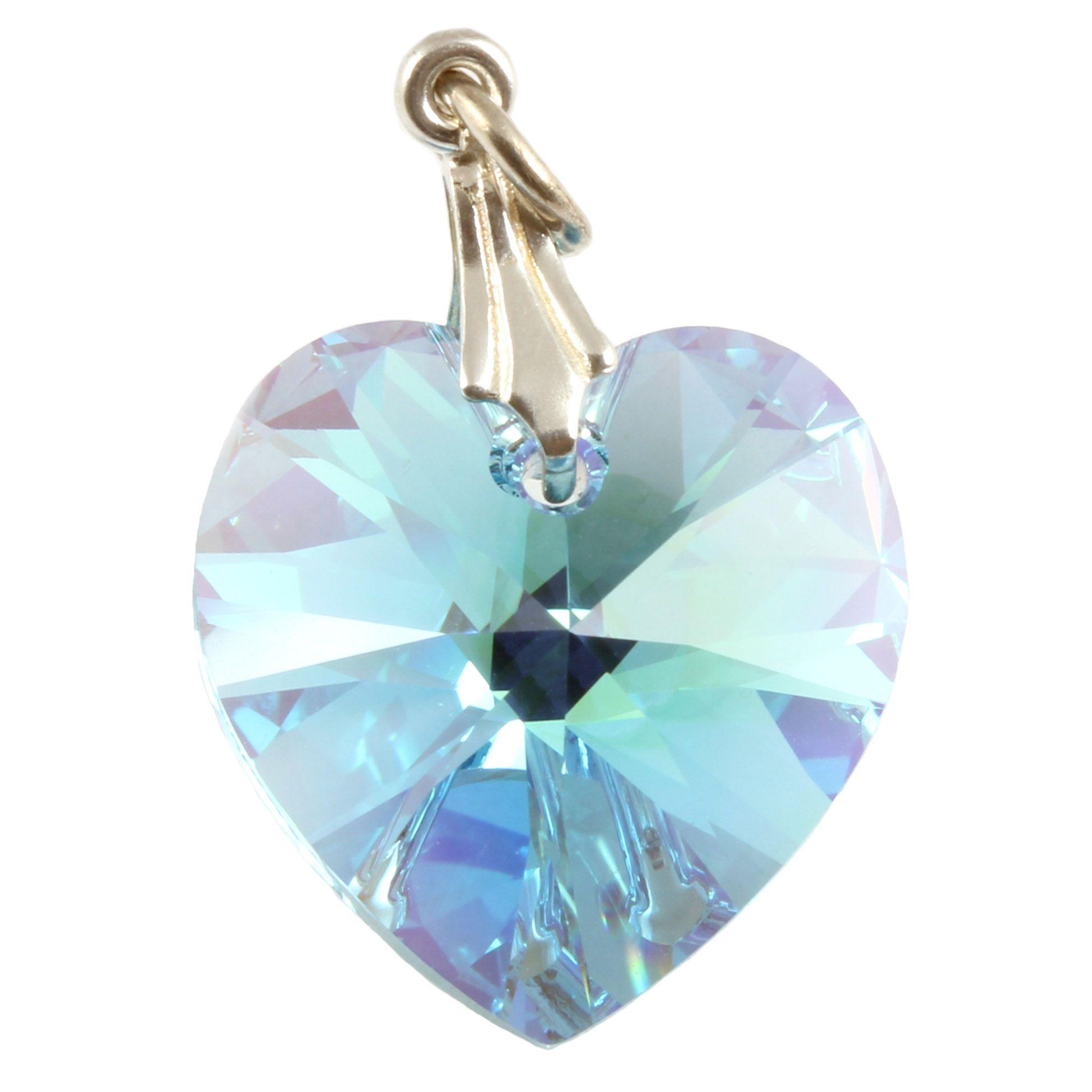Charm school uk swarovski crystal pendants bermuda blue crystal swarovski aquamarine ab heart crystal pendants silver bail mozeypictures Gallery